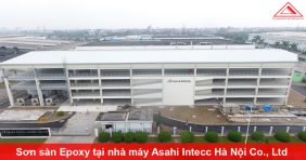 Thi công sơn sàn Epoxy tại nhà máy Asahi Intecc Hà Nội Co., Ltd