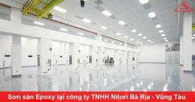 Thi công sơn sàn Epoxy tại công ty TNHH Nitori Bà Rịa - Vũng Tàu