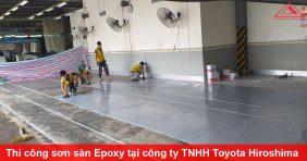 Thi công sơn sàn Epoxy tại công ty TNHH Toyota Hiroshima Vĩnh Phúc