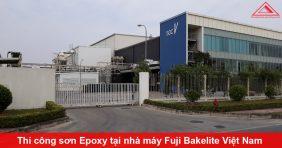 Thi công sơn sàn Epoxy tại nhà máy Fuji Bakelite Việt Nam