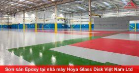 Thi công sơn sàn Epoxy tại nhà máy Hoya Glass Disk Việt Nam Ltd