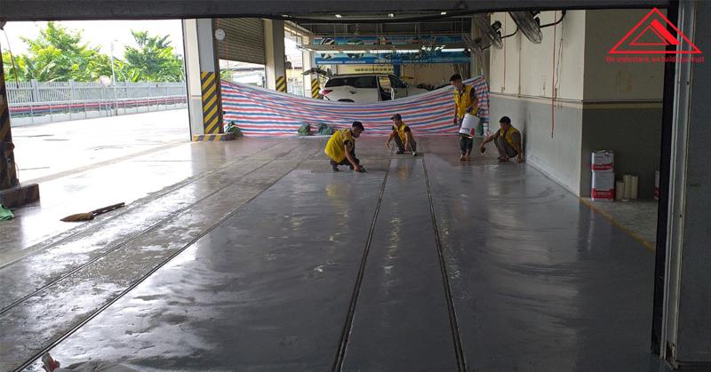 Thi công sơn sàn epoxy tại Toyota Hiroshima Vĩnh Phúc
