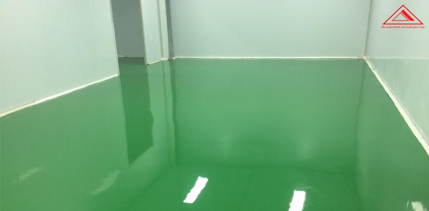 thi công sơn sàn epoxy đúng kỹ thuật