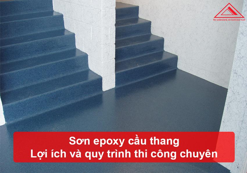 sơn epoxy bậc cầu thang